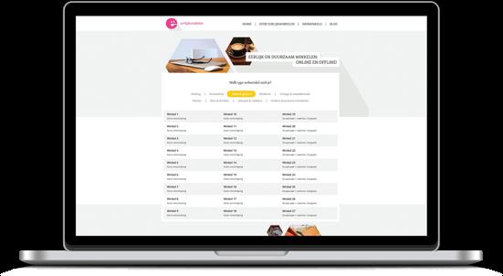 Eerlijk Winkelen Responsive Website