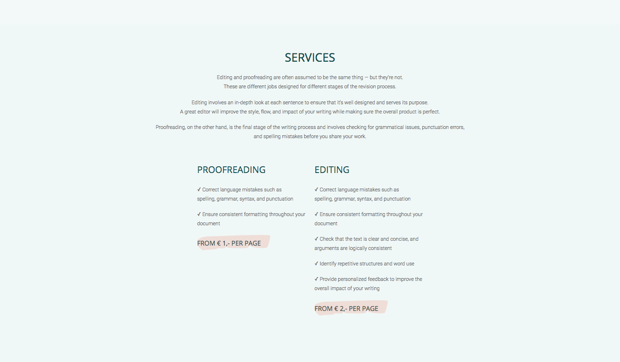 Mint Edits Responsive Wordpress Website