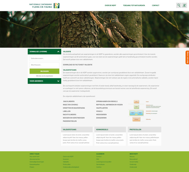 NDFF Responsive Wordpress Website