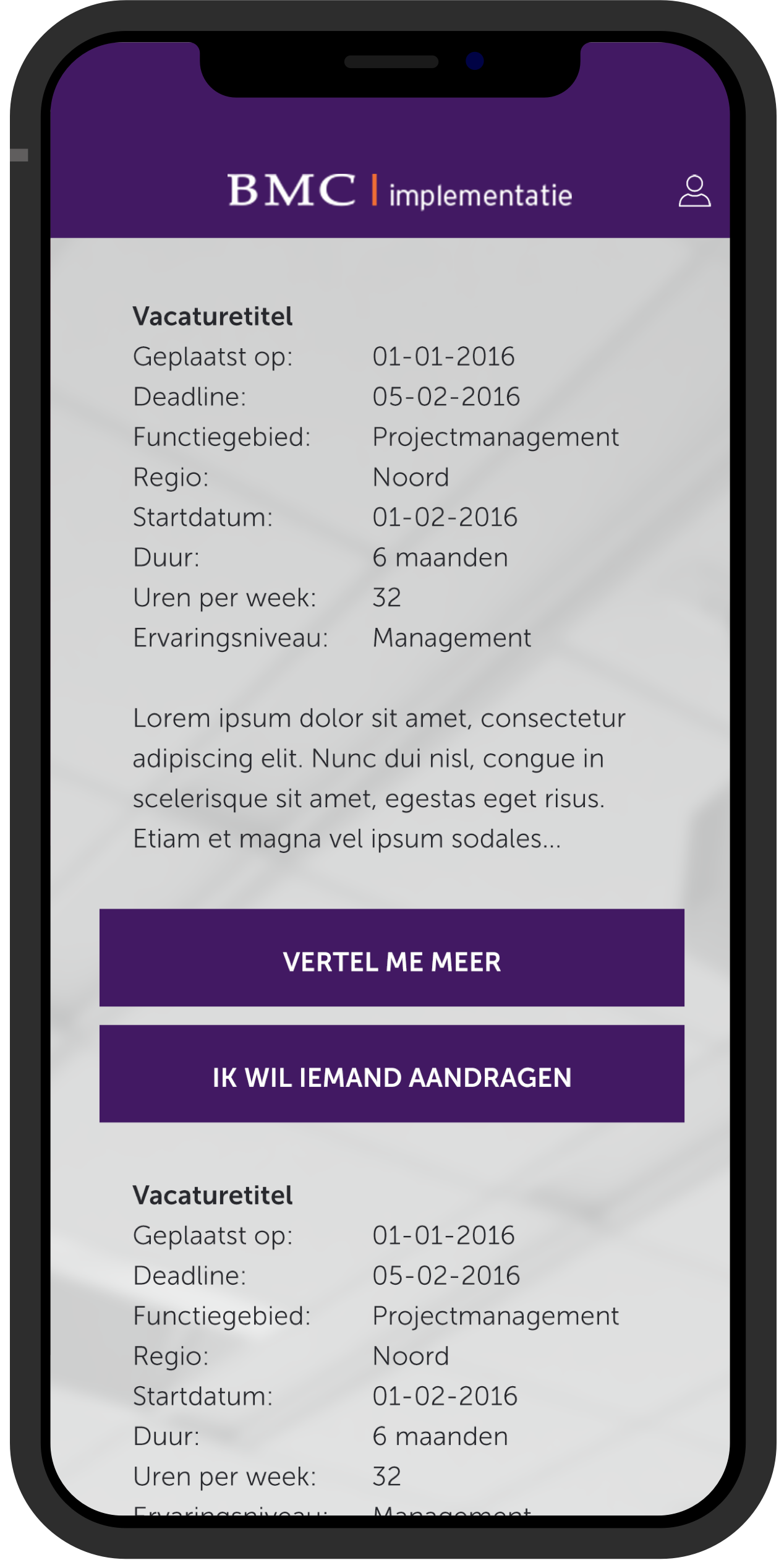 BMC App Vacature