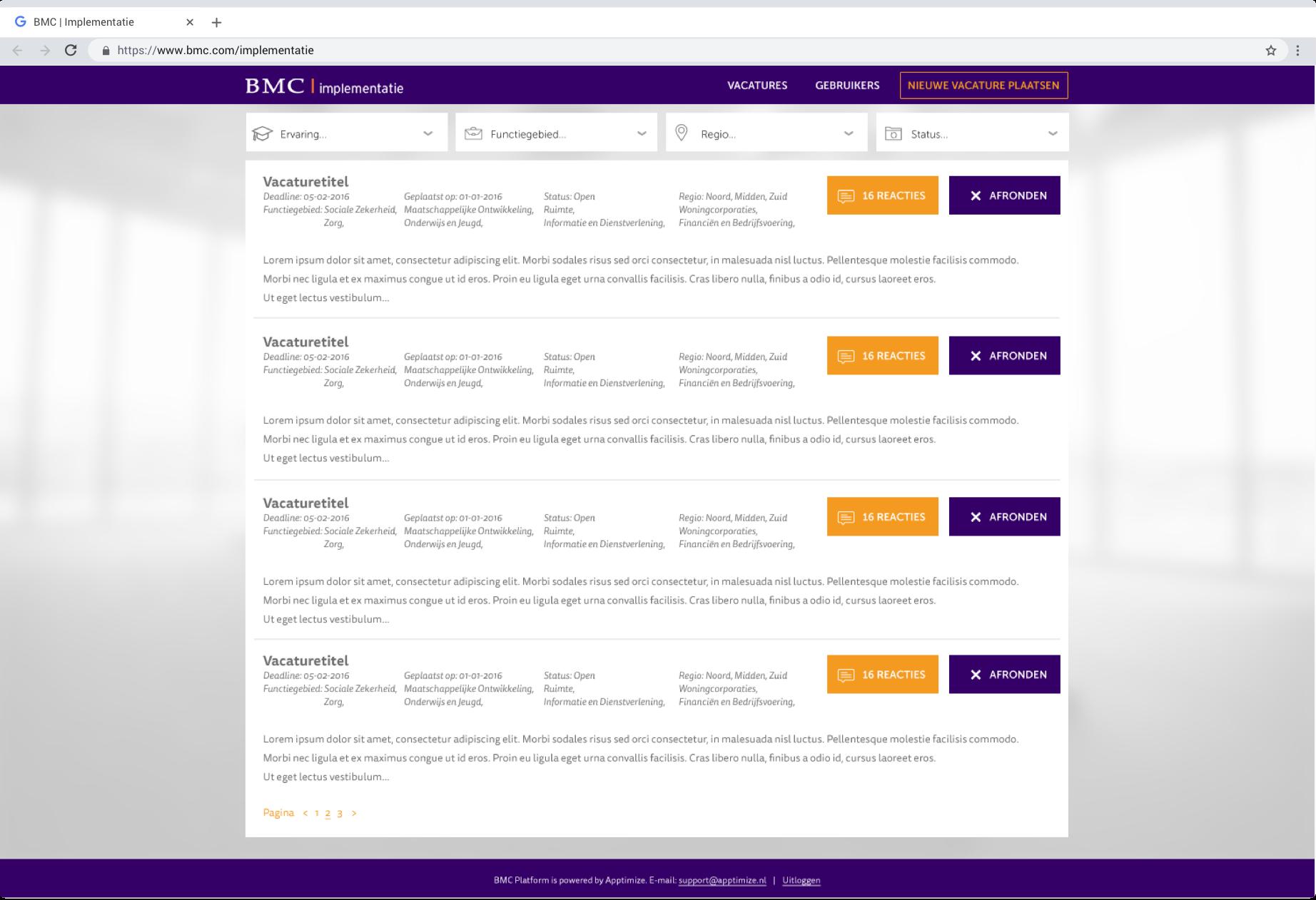 BMC Vacature Platform